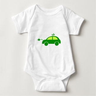 Green Eco Electric Car - Ecology, Enviroment Baby Bodysuit
