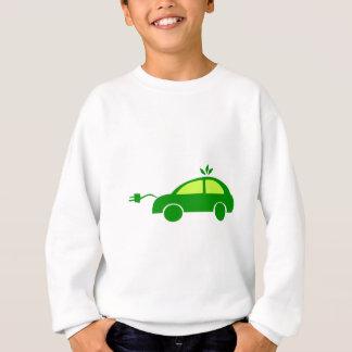 Green Eco Electric Car - Ecology, Enviroment Sweatshirt