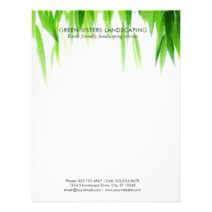 Lawn Care Letterhead Zazzle Ca