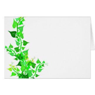 green eco vine greeting card