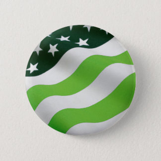 Green (ecology) flag 2 inch round button