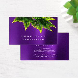 Green Economy Fern Organic Burgundy Amethyst Plum Business Card