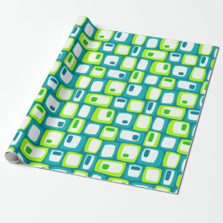 Green Eggs & Spambots on blue Wrapping Paper