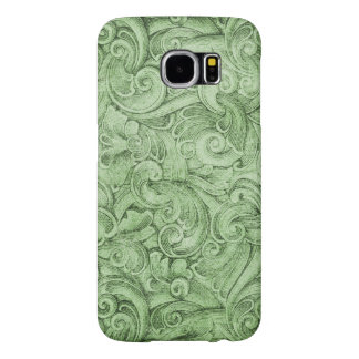 Green Egyption Scroll Texture Neutral Samsung Galaxy S6 Cases