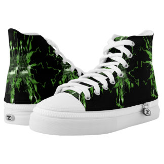 Green Electric High Tops