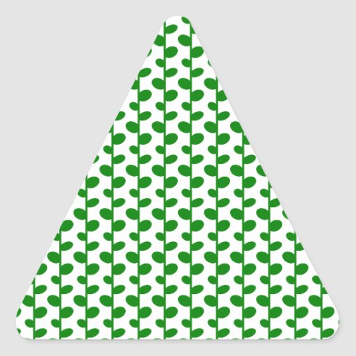 Green Elegant Modern Chic Leaf Pattern Stickers