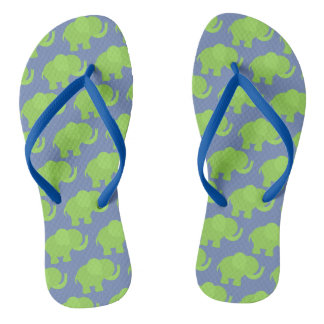 Green Elephant Flip Flops