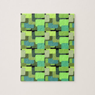 Green Emerald Lime Jade Modern Abstract Puzzles