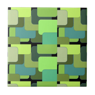 Green Emerald Lime Jade Modern Abstract Tile