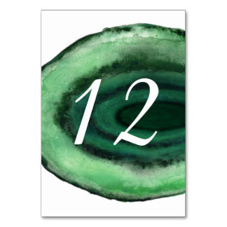 Green Emerald Table Number