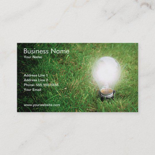 Green energy business card template zazzle green energy business card template reheart Images