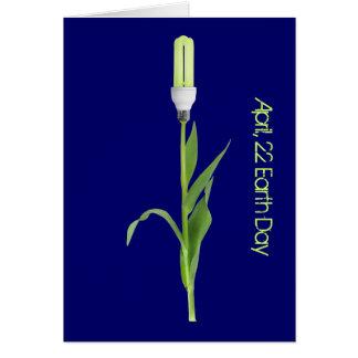 Green Energy Flower Card Template