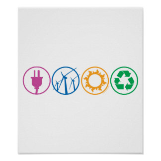 Green Energy Symbols Poster