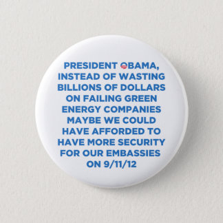Green Energy Waste 2 Inch Round Button