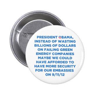 Green Energy Waste 2 Inch Round Button