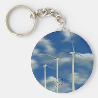 Green Energy Wind Turbine Keychain