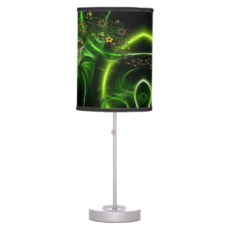 Green Entwined Abstract Floral Filigree Table Lamp