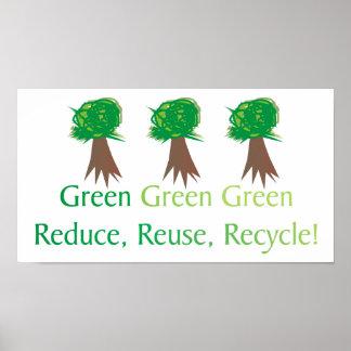 Green Enviro-friendly Poster