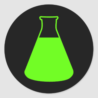 Green Erlenmeyer Flask Sticker