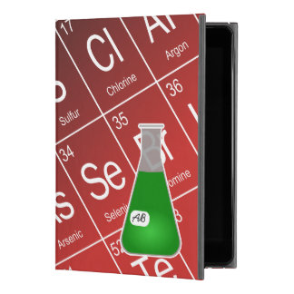 """Green Erlenmeyer Flask (with Initials) Chemistry iPad Pro 9.7"""" Case"""