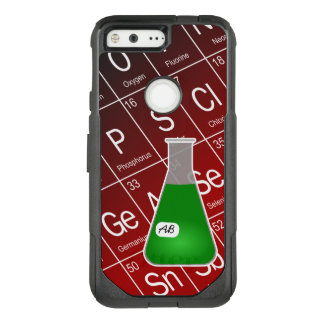 Green Erlenmeyer Flask (with Initials) Chemistry OtterBox Commuter Google Pixel Case