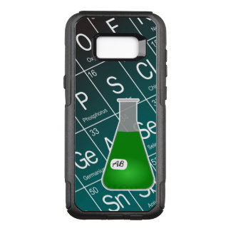 Green Erlenmeyer Flask (with Initials) Chemistry OtterBox Commuter Samsung Galaxy S8+ Case