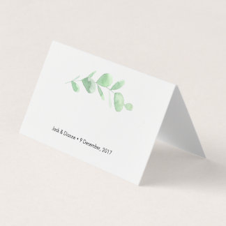 Green Eucalyptus Tent Cards | Wedding Place Cards