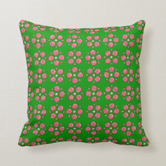 Green examined throw pillow