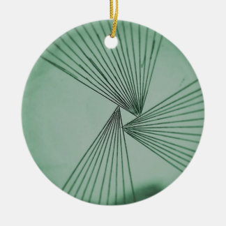 Green Explicit Focused Love Ceramic Ornament