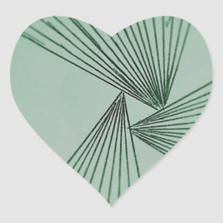 Green Explicit Focused Love Heart Sticker
