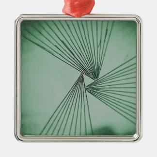 Green Explicit Focused Love Metal Ornament