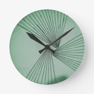 Green Explicit Focused Love Round Clock