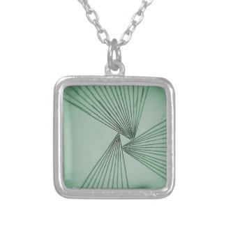 Green Explicit Focused Love Silver Plated Necklace
