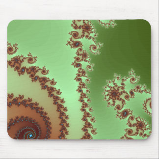 Green Expresso Swirl - Mousepad