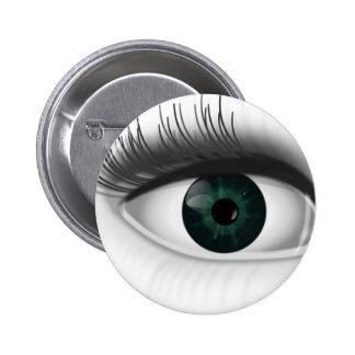 Green eye. 2 inch round button