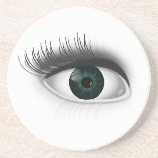 Green eye. beverage coasters