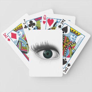 Green eye. bicycle playing cards