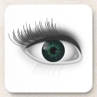 Green eye. coaster
