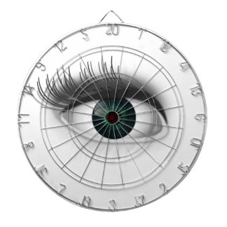 Green eye. dartboard