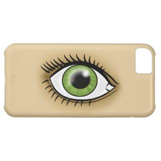 Green Eye icon iPhone 5C Cases
