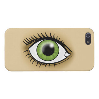 Green Eye icon iPhone 5/5S Cover