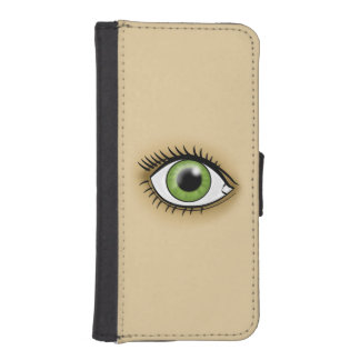 Green Eye icon Phone Wallet Cases