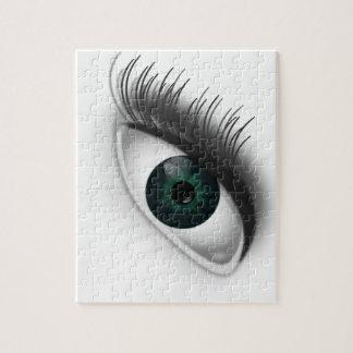 Green eye. jigsaw puzzle