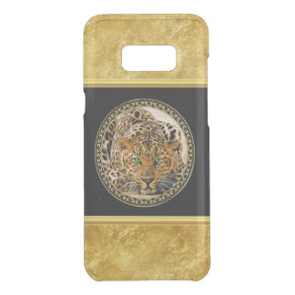 Green eye leopard with Spotted skin gold foil Uncommon Samsung Galaxy S8 Plus Case