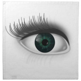 Green eye. napkin