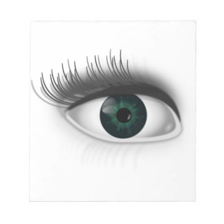 Green eye. notepad