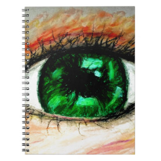 Green Eye Notepad Notebooks