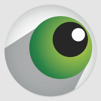 Green Eyeball Classic Round Sticker