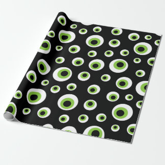 Green Eyeballs | Halloween Pattern