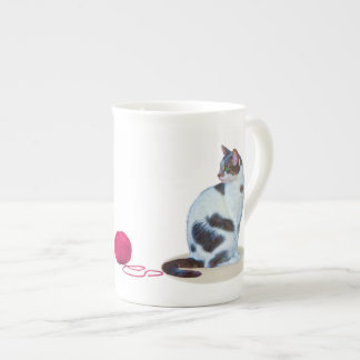 Green-eyed Black and White Cat  Speciality Mug